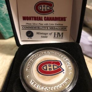 Canadiens Hockey sterling silver plated coin!